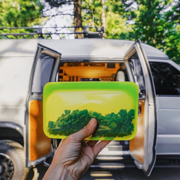 living in a Van with less plastic