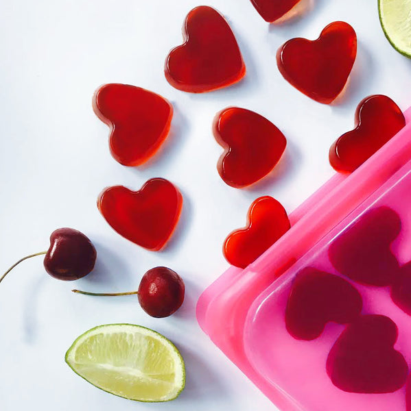 Be Mine: Healthy Cherry Lime Gummies