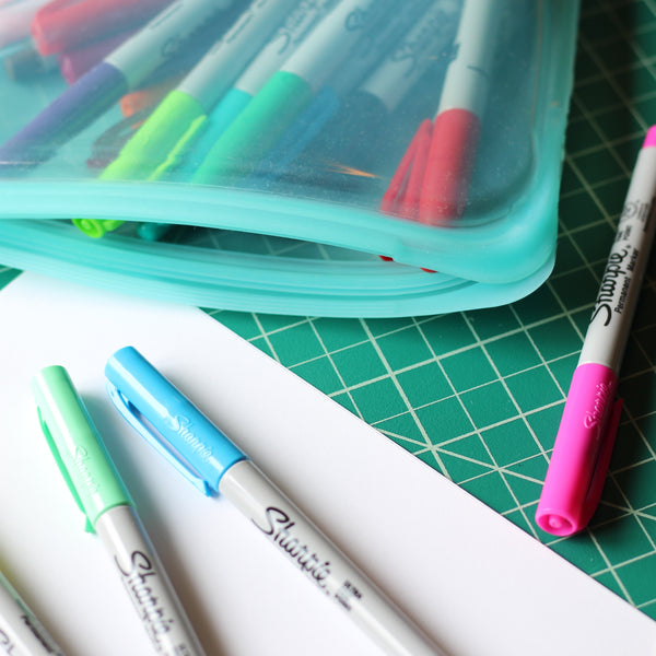 Keep art supplies in a stasher bag