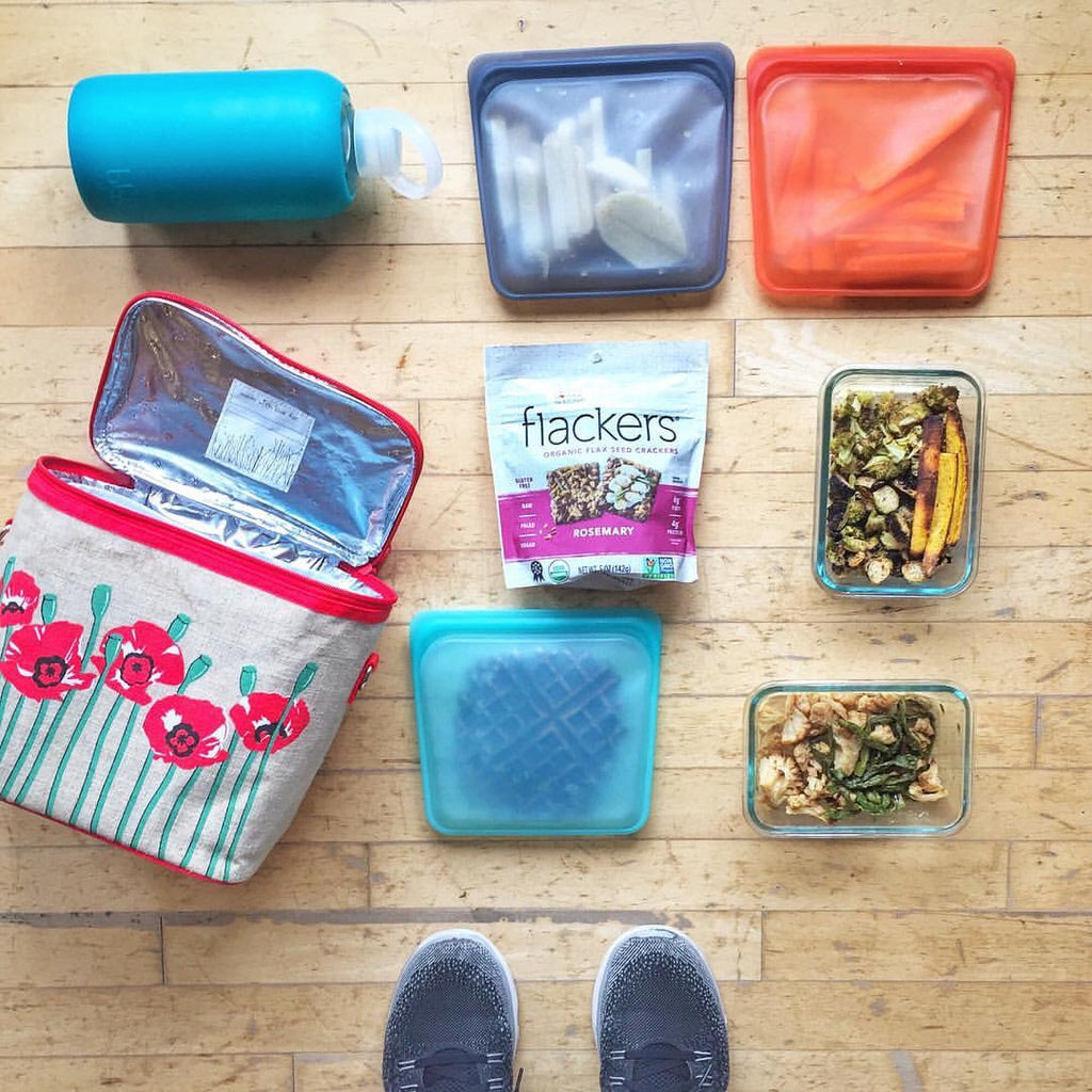 stasher bags packed by @dailydancerdiet