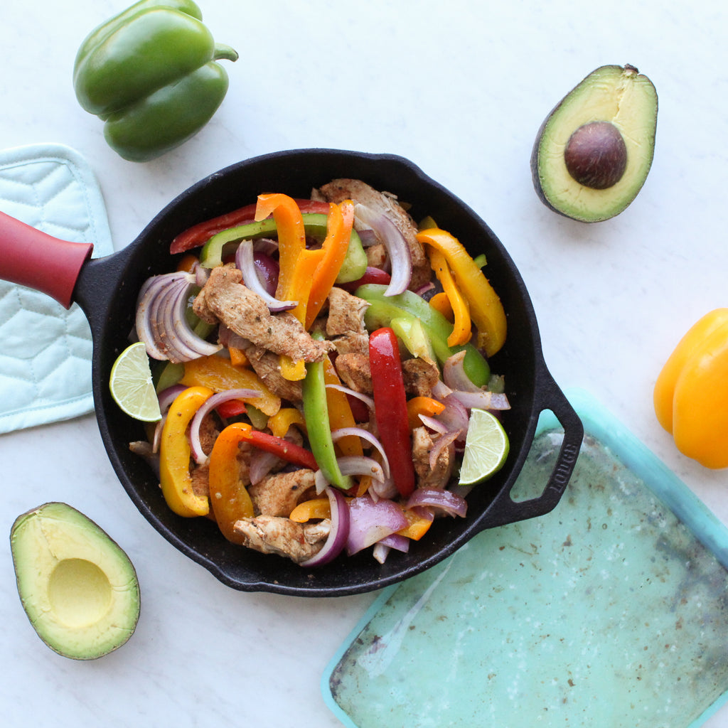 paleo fajitas with stasher bag