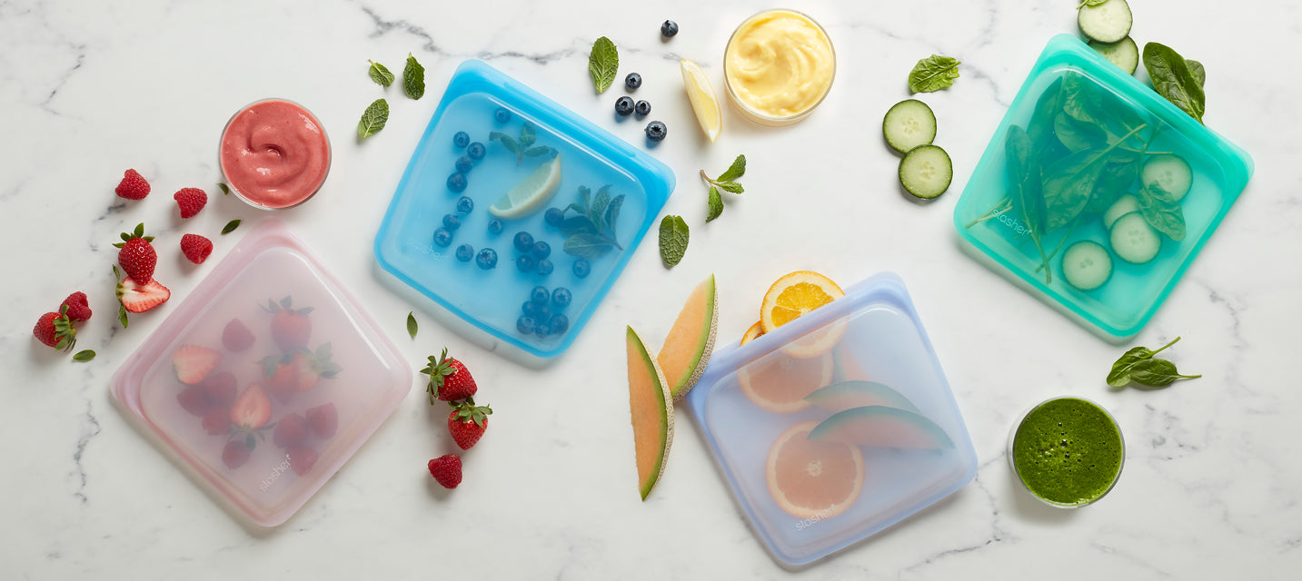 Shop the Gem Collection. & Reusable Silicone Bags | Reusable Snack Sandwich u0026 Storage Bags ...