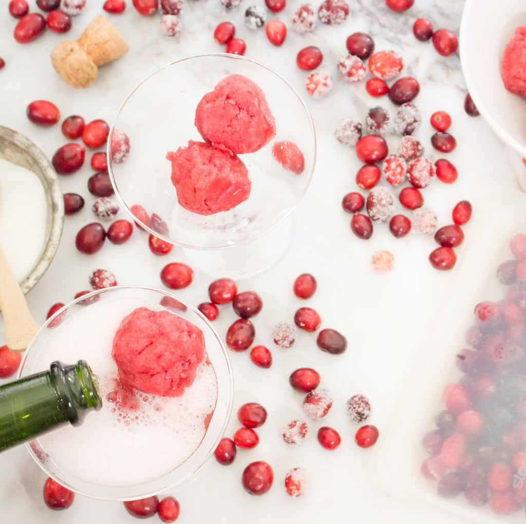 Cranberry sorbet cocktail recipe