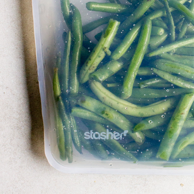 cook green beans in a stasher bag