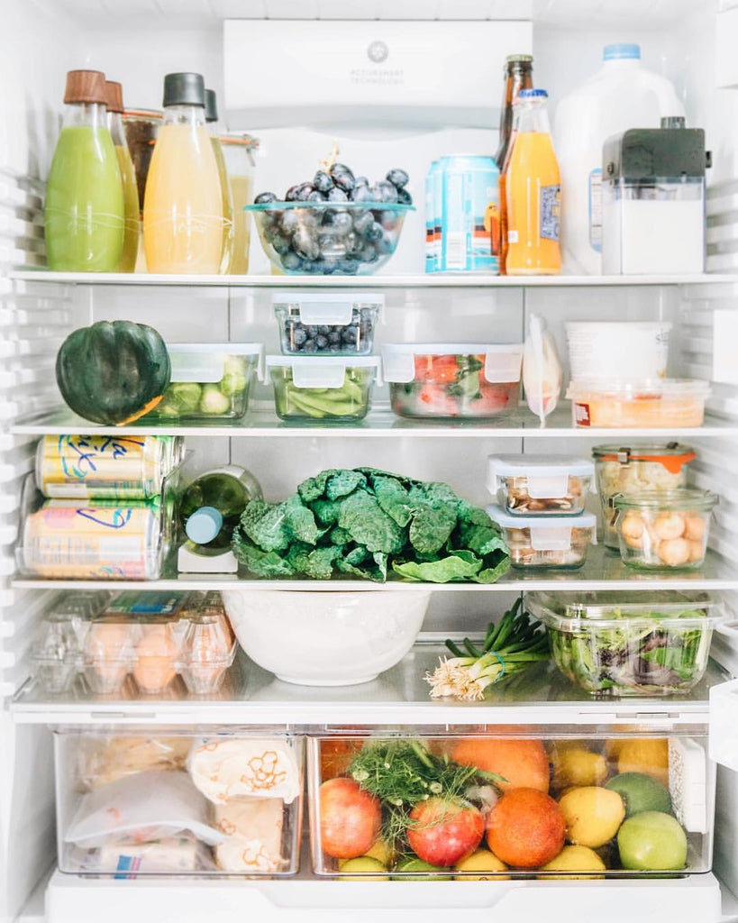 Fridge organization by Carlene Thomas RDN