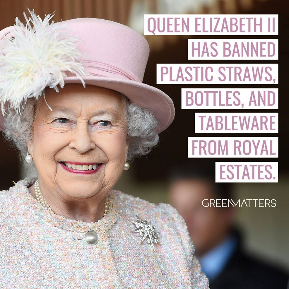 Queen Bans Plastic from Royal Estates
