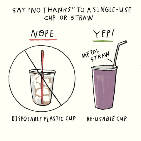 use a reusable straw