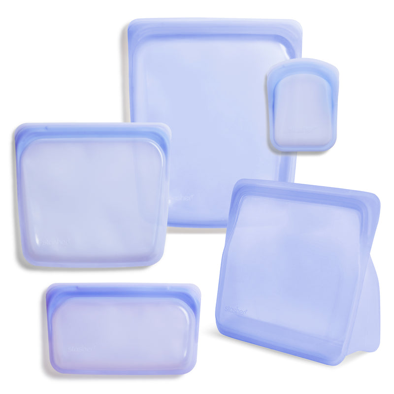 reusable silicone food storage 5-pack