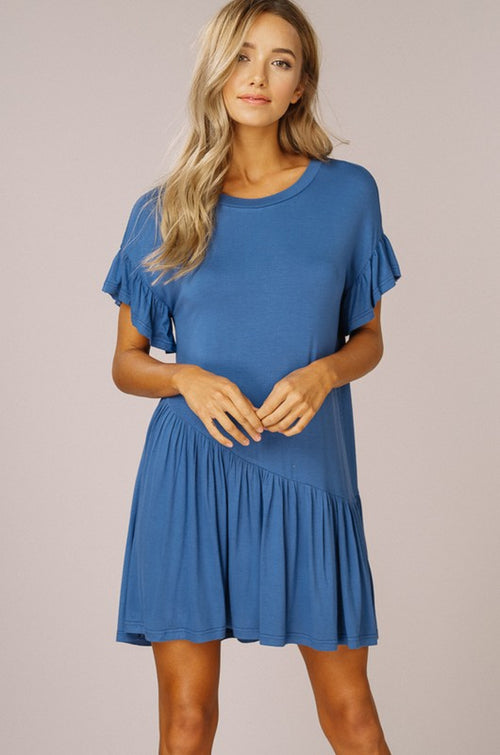 Everyday Ruffle T-Shirt Dress