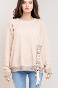 LACE UP SWEATSHIRT
