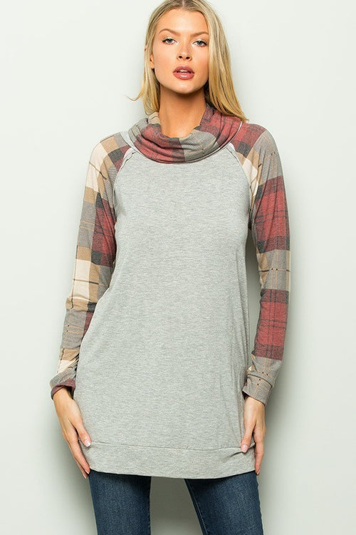 An Instant Love Plaid Pullover