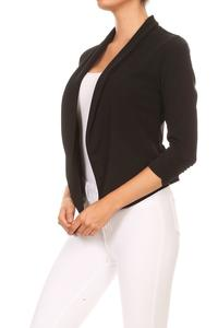 Boardwalk Babe Blazer in Black
