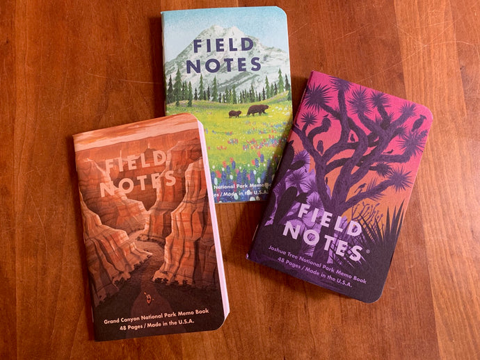 Field Notes Pocket Journals - 3 pack - National Parks Series,  - Cedarberry