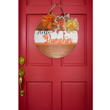 """Hello Pumpkin"" Wood Door Sign"