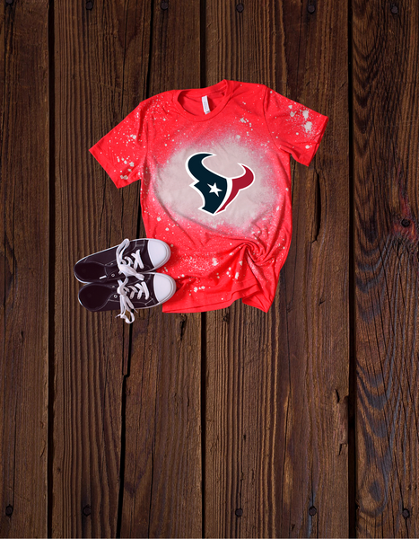 "Men Bleached ""Texans"" T-shirt"