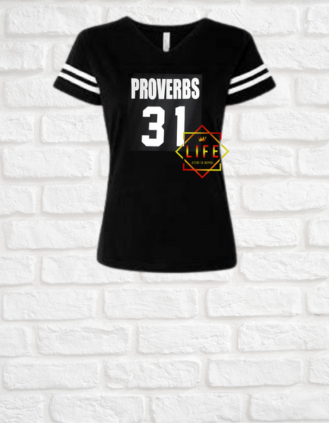 """Proverbs 31"" V-neck Jersey"
