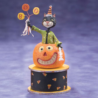 Cat in Pumpkin Figure 16174