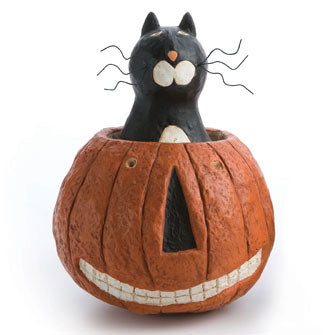 Cat in Pumpkin Figure 16201