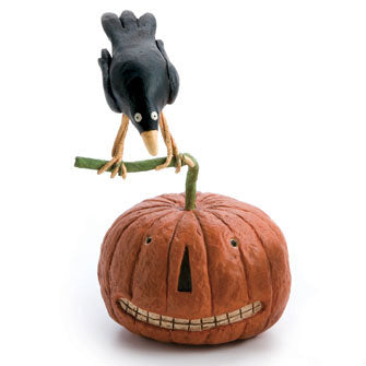 Crow on Pumpkin Figure 16204