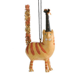 Orange Cat Ornament 16211