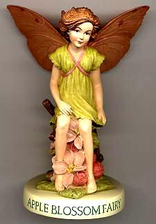Apple Blossom Fairy with Base (no box) (RETIRED but in stock)