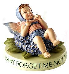Baby Forget-Me-Not Fairy with Base (boxed) (RETIRED but in)