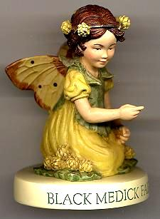 Black Medick Fairy Girl with Base 88914 (boxed) (RETIRED but in)