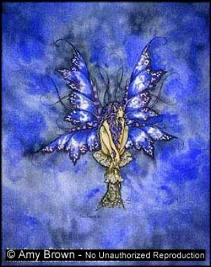 Blue Faery Notecard