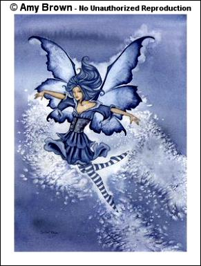 Snow Faery Notecard