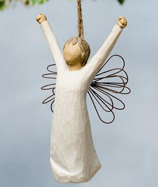 Courage Angel Ornament 26175