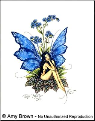 Forget Me Not Notecard