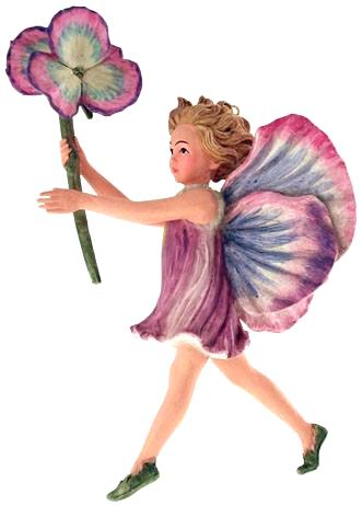 Pansy Fairy with Flower 86919 (boxed) (RETIRED but in stock)