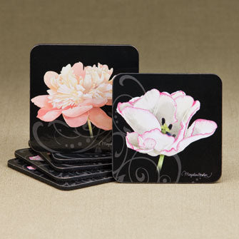 Pink Floral Coasters - Set of 6 Assorted 16658