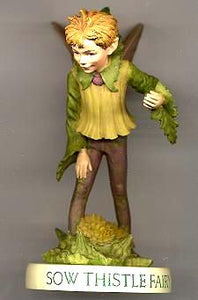 Sow Thistle Fairy with Base 88962 (boxed) (RETIRED but in stock)