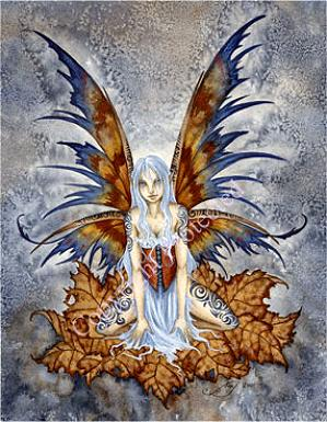 Tattoo Faery Notecard
