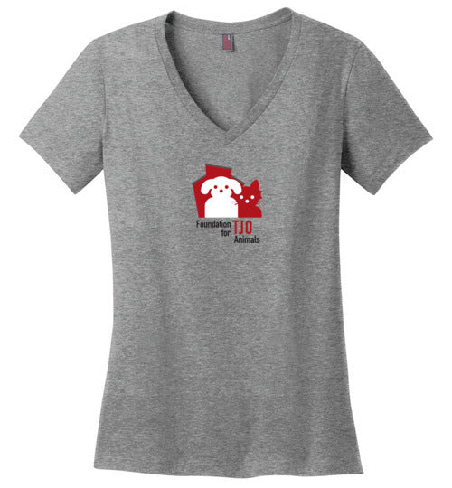 Foundation for TJO Animals - Ladies V-Neck Tee