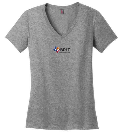 BRIT Rescue in Texas - Women's V-Neck Tee