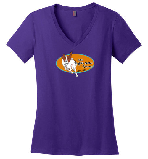 Our English Setter Rescue - Ladies V-Neck Tee