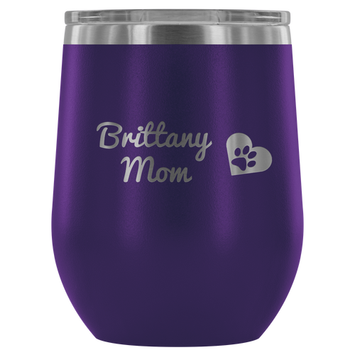 Brittany Rescue in Texas - Wine Tumbler