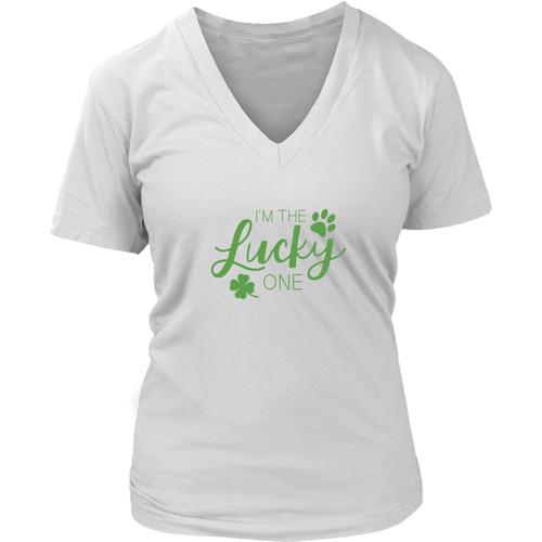 I'm The Lucky One - Ladies V-Neck Tee