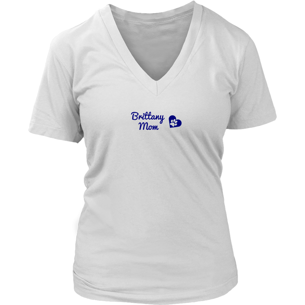 BRIT Rescue in Texas - Brittany Mom Ladies V-Neck Tee