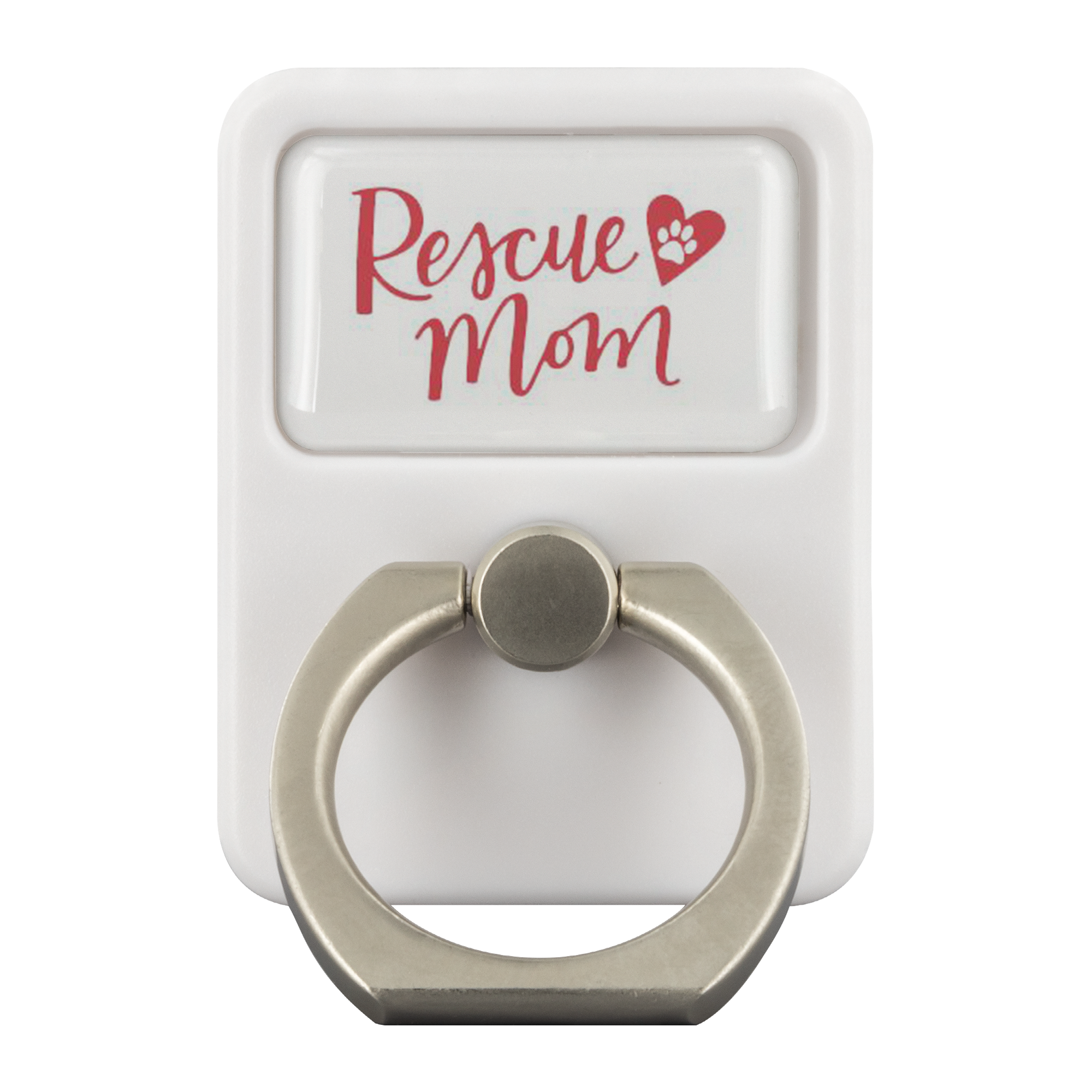 Cell Phone and Tablet Grip Stand Accessory - Rescue Mom Red