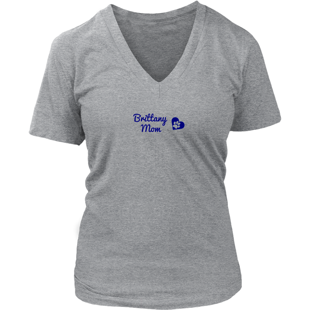 Britt Rescue in Texas - Brittany Mom Ladies V-Neck Tee