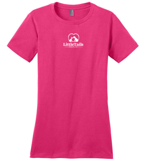 Little Tails Rescue, Inc - Ladies Crew Neck Tee