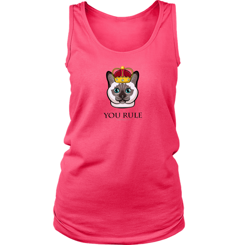 "Cat ""You Rule"" - Ladies Tank Top"