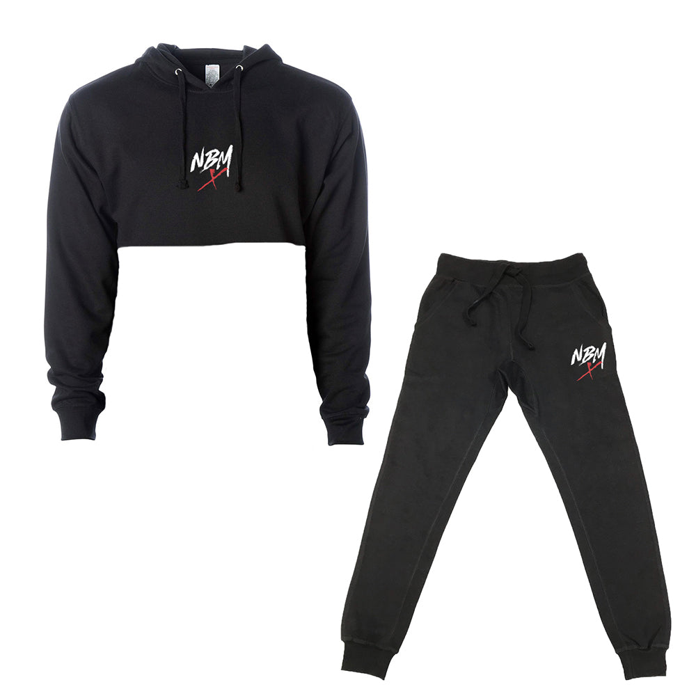 NBM-X Women's Crop Hoodie and Jogger Combo