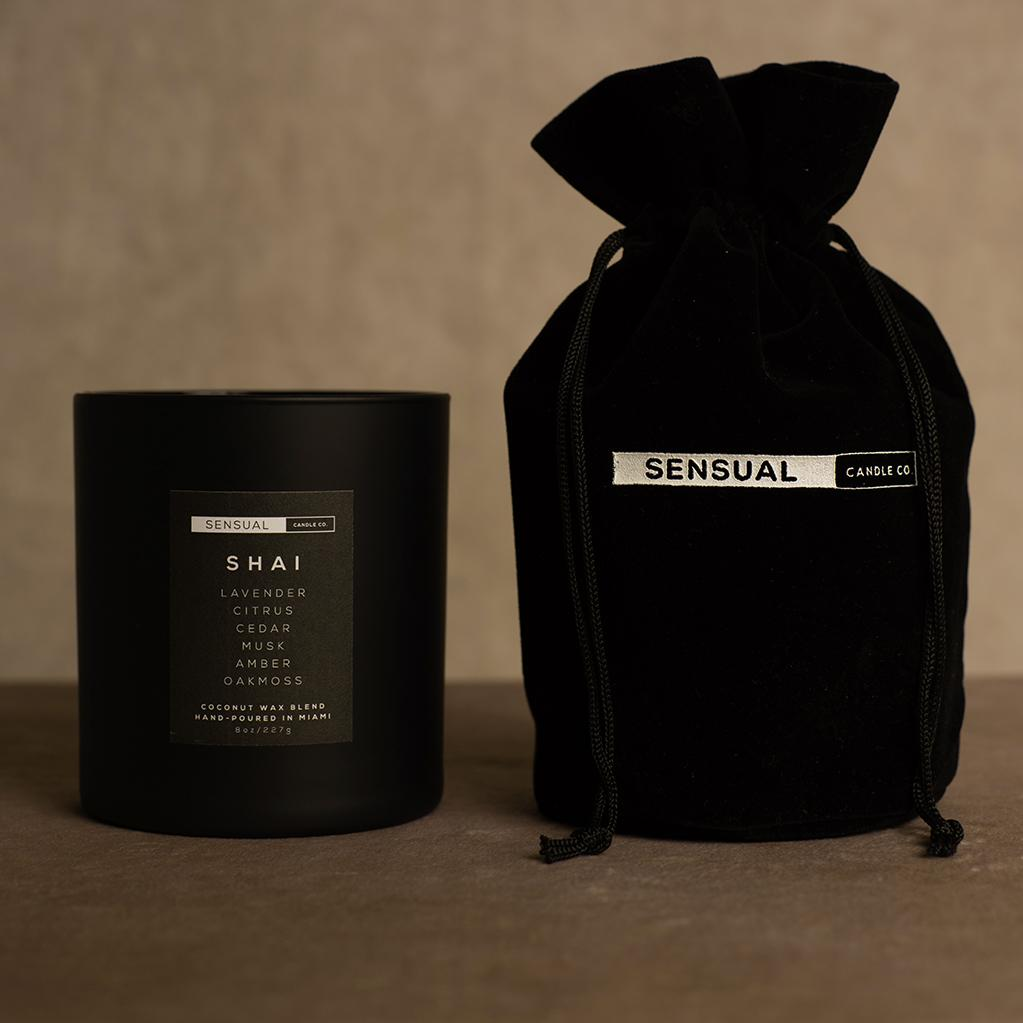 Sensual Candle Co. Shai Sensual Candle and Velvet Bag