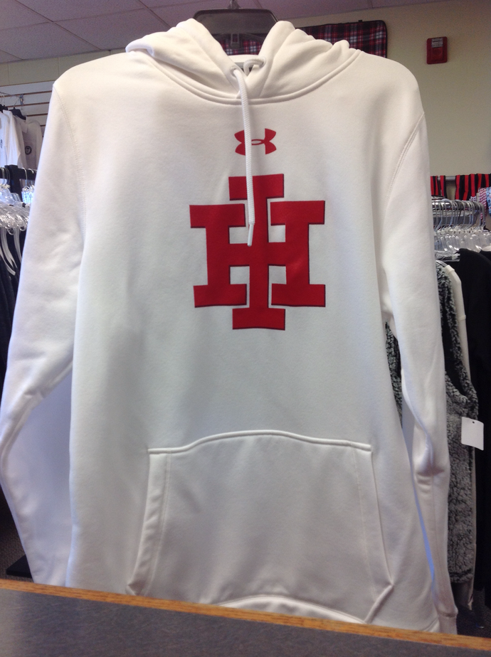 White Under Armour IH Sweatshirt with hood Adult