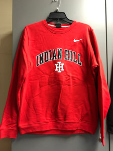 Red Nike fleece crew