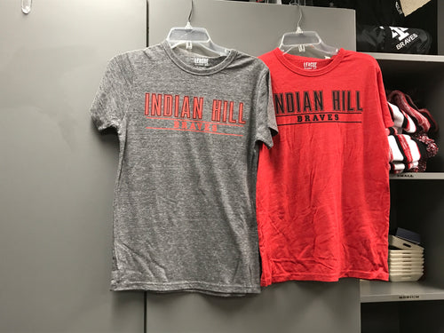 Heather grey or red League T-shirt